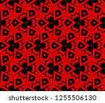 decorative wallpaper design in... | Shutterstock .eps vector #1255506130