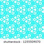 decorative wallpaper design in... | Shutterstock .eps vector #1255509070