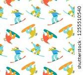 snowboard sports background....   Shutterstock .eps vector #1255510540