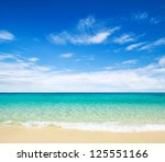 beach and tropical sea | Shutterstock . vector #125551166