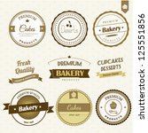 bakery labels set | Shutterstock .eps vector #125551856