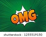comic speech bubble with...   Shutterstock .eps vector #1255519150