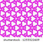 decorative wallpaper design in... | Shutterstock .eps vector #1255522609