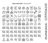 education  bold line icons. the ... | Shutterstock .eps vector #1255526143