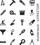 solid black vector icon set  ... | Shutterstock .eps vector #1255527109