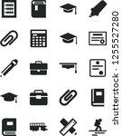 solid black vector icon set  ... | Shutterstock .eps vector #1255527280