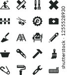 solid black vector icon set  ... | Shutterstock .eps vector #1255528930