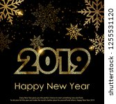 happy new year greeting card... | Shutterstock .eps vector #1255531120