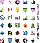 vector icon set   growth chart...   Shutterstock .eps vector #1255538056