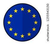 flag european union   flat... | Shutterstock .eps vector #1255543150