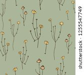 floral simple seamless pattern. ... | Shutterstock .eps vector #1255547749