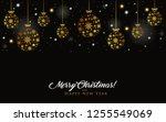 xmas greeting card.christmas... | Shutterstock .eps vector #1255549069