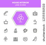 house interior line icons. set... | Shutterstock .eps vector #1255550533