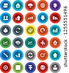 white solid icon set  graph... | Shutterstock .eps vector #1255551496