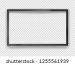 modern black tv frame with... | Shutterstock .eps vector #1255561939