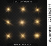 lights sparkles isolated  lens... | Shutterstock .eps vector #1255563949