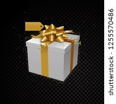 golden vector 3d gift box...   Shutterstock .eps vector #1255570486