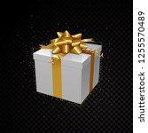 golden vector 3d gift box...   Shutterstock .eps vector #1255570489