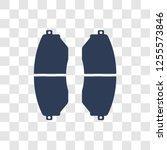 car brake pad icon. trendy car... | Shutterstock .eps vector #1255573846