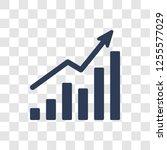 increasing stocks icon. trendy... | Shutterstock .eps vector #1255577029