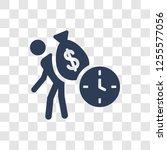 debt icon. trendy debt logo... | Shutterstock .eps vector #1255577056