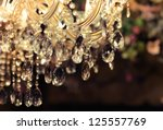 Chrystal chandelier close up....