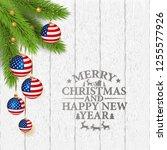 vector abstract christmas... | Shutterstock .eps vector #1255577926