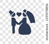 wedding couple icon. trendy... | Shutterstock .eps vector #1255578856