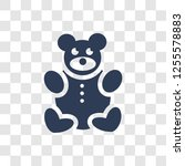 teddy bear icon. trendy teddy... | Shutterstock .eps vector #1255578883