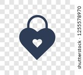 Love Padlock Icon. Trendy Love...