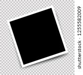 photo frame with shadow mockup...   Shutterstock . vector #1255582009