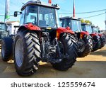 View Of The Rear Of Tractors A...