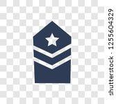 militar insignia icon. trendy... | Shutterstock .eps vector #1255604329