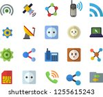 color flat icon set sockets... | Shutterstock .eps vector #1255615243