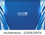 blue background with dotted... | Shutterstock .eps vector #1255615876
