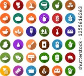 color back flat icon set  ... | Shutterstock .eps vector #1255616263