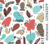 vector seamless pattern with... | Shutterstock .eps vector #1255623379