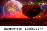 heart shaped tree with amazing... | Shutterstock . vector #1255631179