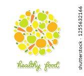 healthy food veggie banner... | Shutterstock .eps vector #1255632166