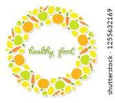 healthy food veggie banner... | Shutterstock .eps vector #1255632169