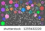 eps10. christmas snow. falling... | Shutterstock .eps vector #1255632220