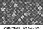 eps10. christmas snow. falling... | Shutterstock .eps vector #1255632226
