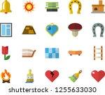 color flat icon set window flat ... | Shutterstock .eps vector #1255633030