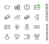 set of money related vector... | Shutterstock .eps vector #1255637839