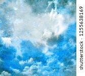 watercolor sky background | Shutterstock . vector #1255638169