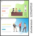 business training  people... | Shutterstock .eps vector #1255639510