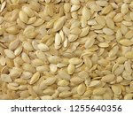 pumpkin seeds and sunflower... | Shutterstock . vector #1255640356