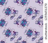 seamless pattern with flower.... | Shutterstock .eps vector #1255651270