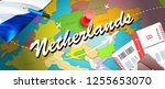 netherlands travel concept map... | Shutterstock . vector #1255653070