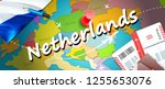 netherlands travel concept map... | Shutterstock . vector #1255653076
